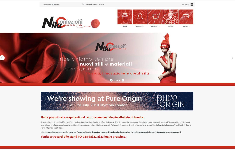 Sito Internet Niki Confezioni