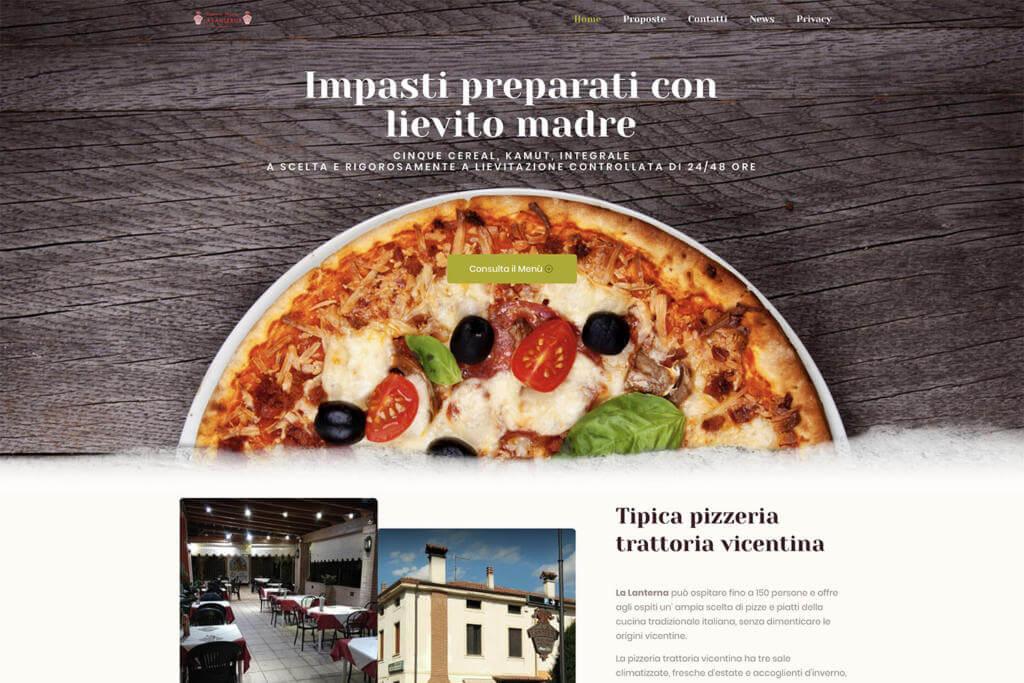 Sito Internet Pizzeria Trattoria La Lanterna