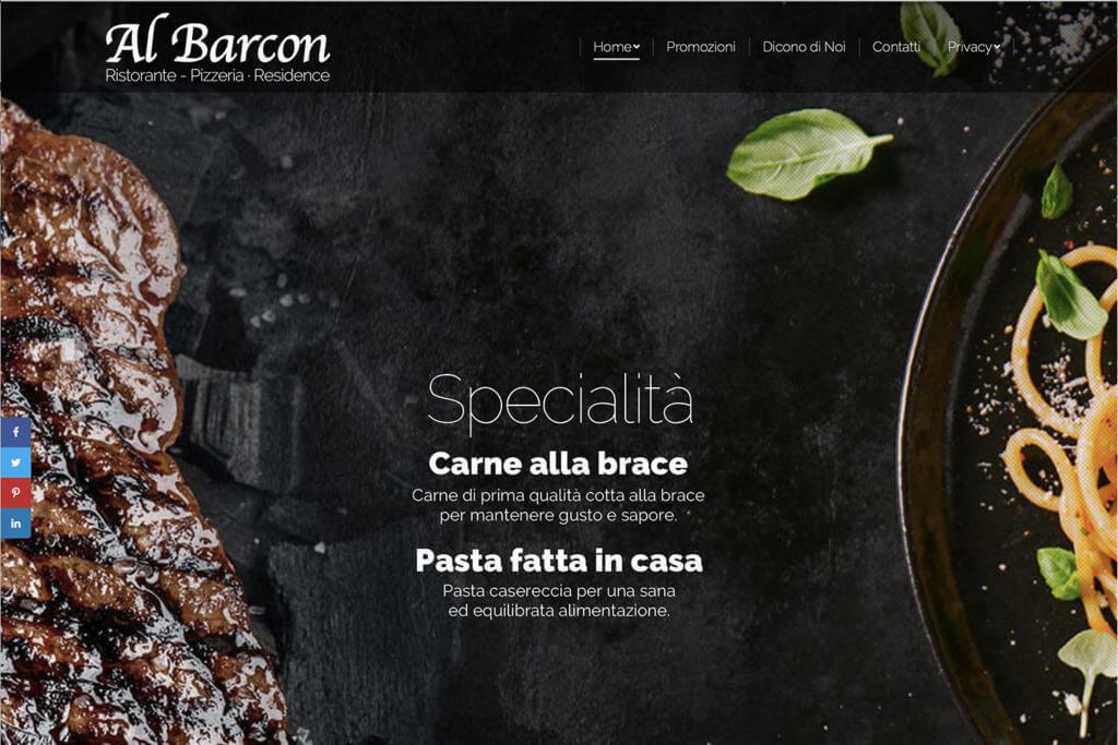 Sito Internet Ristorante Al Barcon