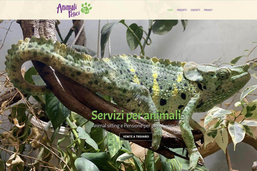 Sito Internet Animali Felici Pet Shop