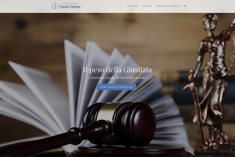 Sito Internet Avvocato Caretta