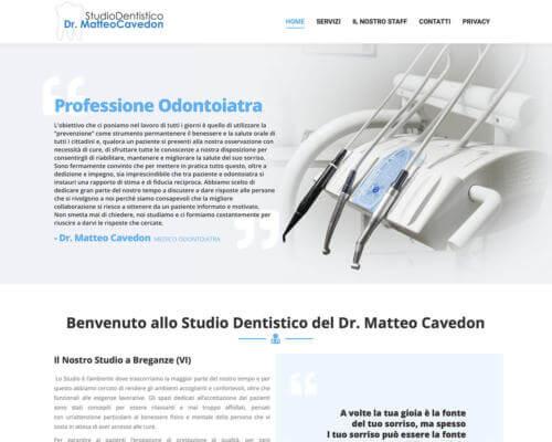 Sito Internet Studio Dentistico Cavedon