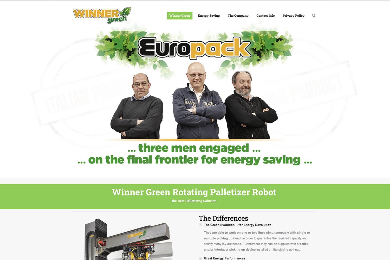 Sito Internet Winner Green Europack