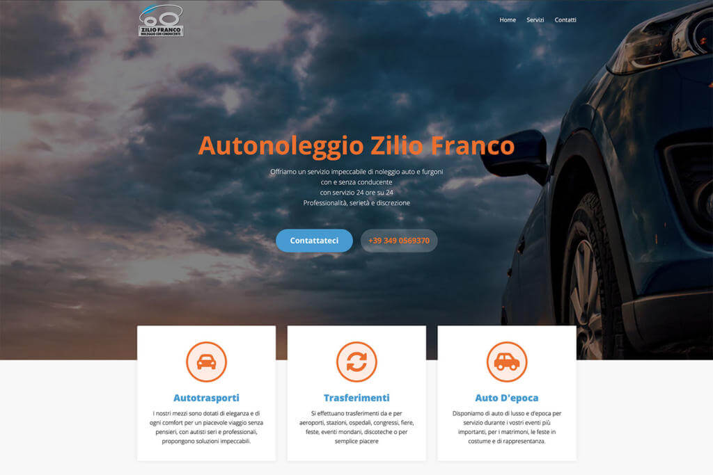 Sito Internet Autonoleggio Zilio Franco