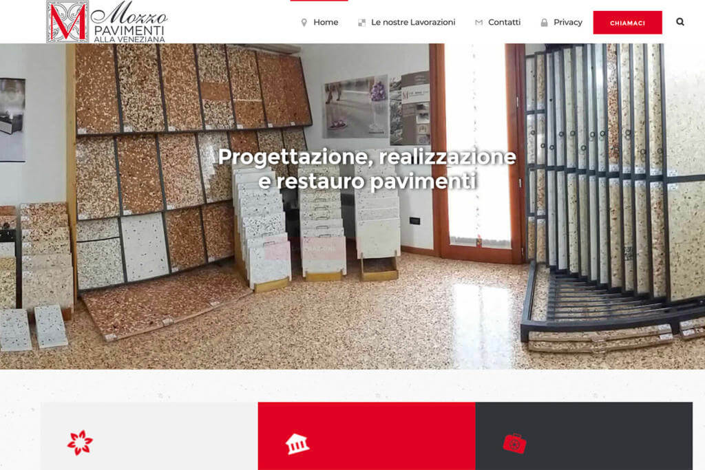 Sito Internet Mozzo Pavimenti Veneziana