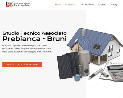 Sito Internet Studio Prebianca Bruni